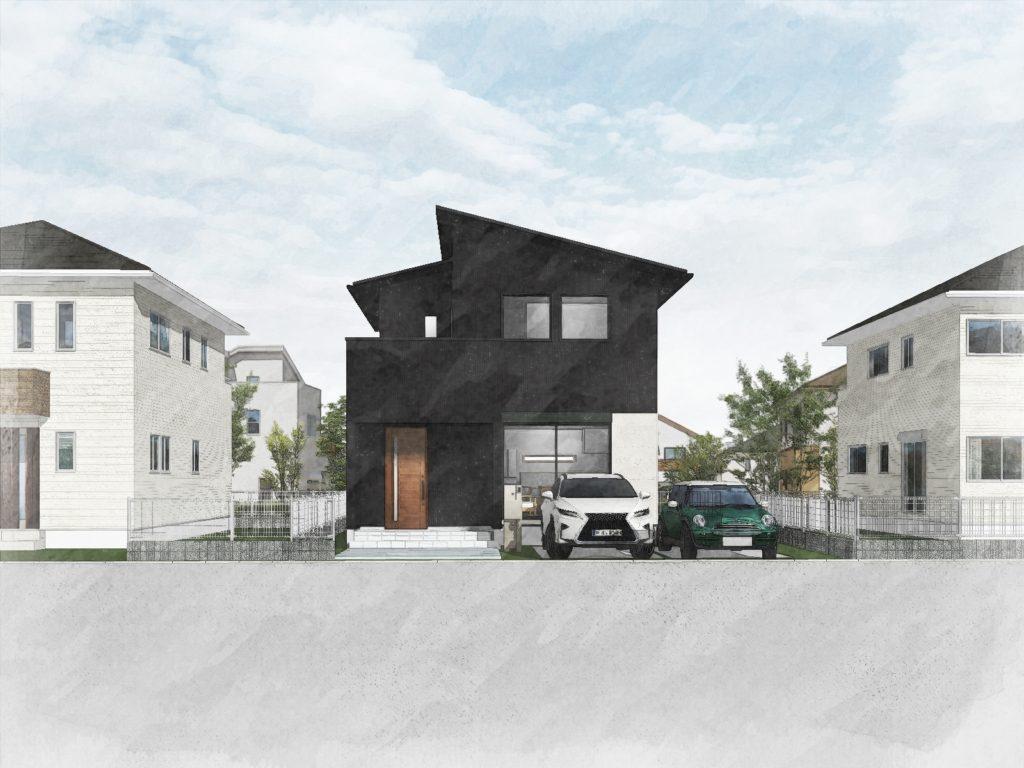 10/17-18 「黒×白+木目の家」完成見学会